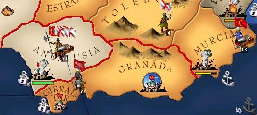 スペインの悪党どもは主に平野に溜まる