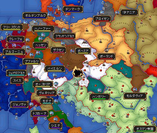 1530年の中欧