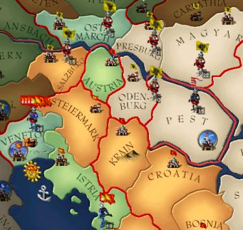 アウストゥリヤ軍の配置