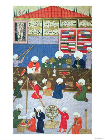 Takyuddin and Other Astronomers at the Galata Observatory Founded in 1557 by Sultan Suleyman